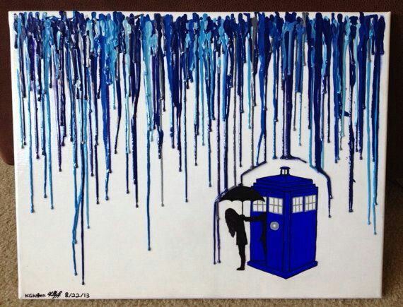 Ok artsy people, who wants to draw and paint the TARDIS for me?!