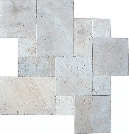 tumbled tuscany beige travertine versailles pattern tiles