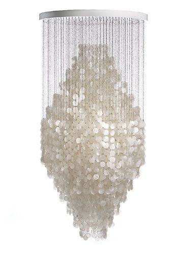 Capiz shell chandelier