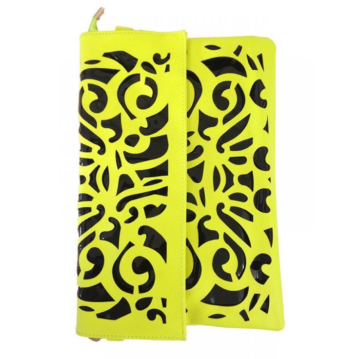 Yellow Oversized Clutch Bag