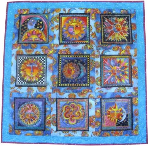 Celestial Quilted Wall Art from Laurel Burch Fabrics: Wall Art, Amazing Art, Wall Hanging, Artfire Com, Maddie Parties, Artists Laurel, Celestial Quilts, Art Quilts, Fabrics Art