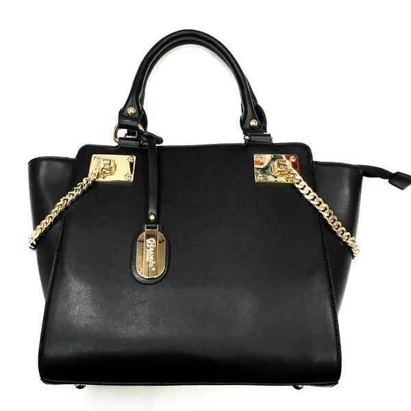 $79.99 - Brangio Italian Premium Leather Gold Chain Tote