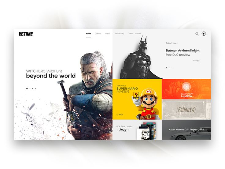 Video Game News Site Concept by RenRan