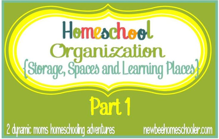 Homeschool Organization + {Storage, Spaces and Learning Places Part 1} - NEW BEGINNINGS