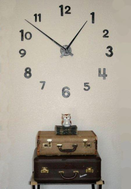 BIG TIME CLOCK $20 at JoAnn Fabrics use chip board numbers