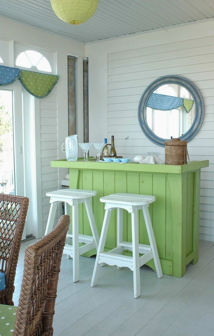 Everything Coastal....: 11 Coastal Room Ideas for Aqua and Lime Color Combo!