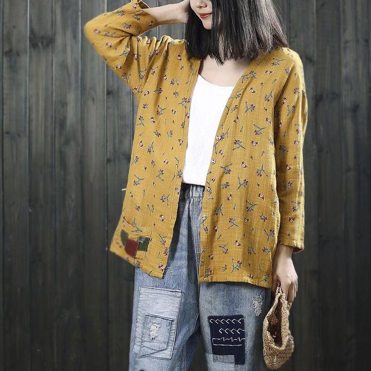 runback 2017 Fall Fashion Retro Floral Cotton Cloth Long Sleeve Women's Shirt Linen Cheap Clothes China Loose Blousas Feminina #Affiliate