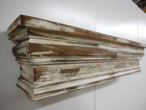 Mantel shelf, French Country Mantle Shelf, Primitive Mantel,Shabby Style shelf