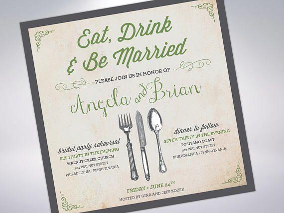 Pre Wedding Dinner Invitation: 8 Best Rehearsal Dinner Invitations; The Night Before