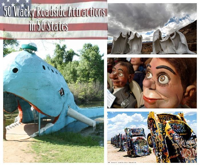 50 Wacky Roadside Attractions in 50 States... this is so cool. I totally saw the sculpture park in south dakota when we drove through