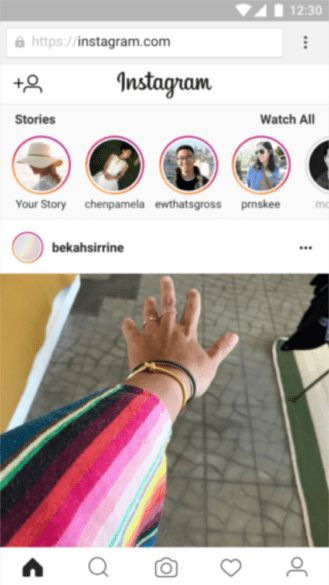 Instagram on mobile site now lets you create Stories and save posts