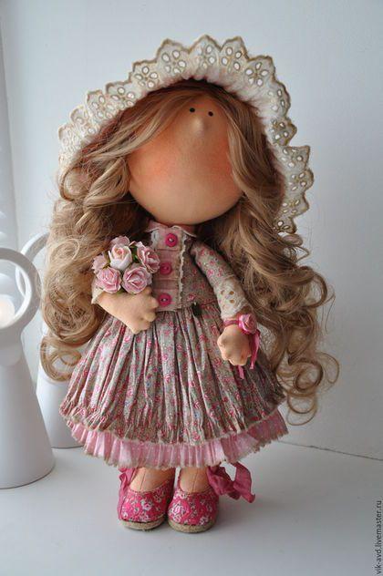 Коллекционные куклы ручной работы. Ярмарка Мастеров - ручная работа. Купить Розочка. Handmade. Бледно-розовый, Снежка, кукла интерьерная