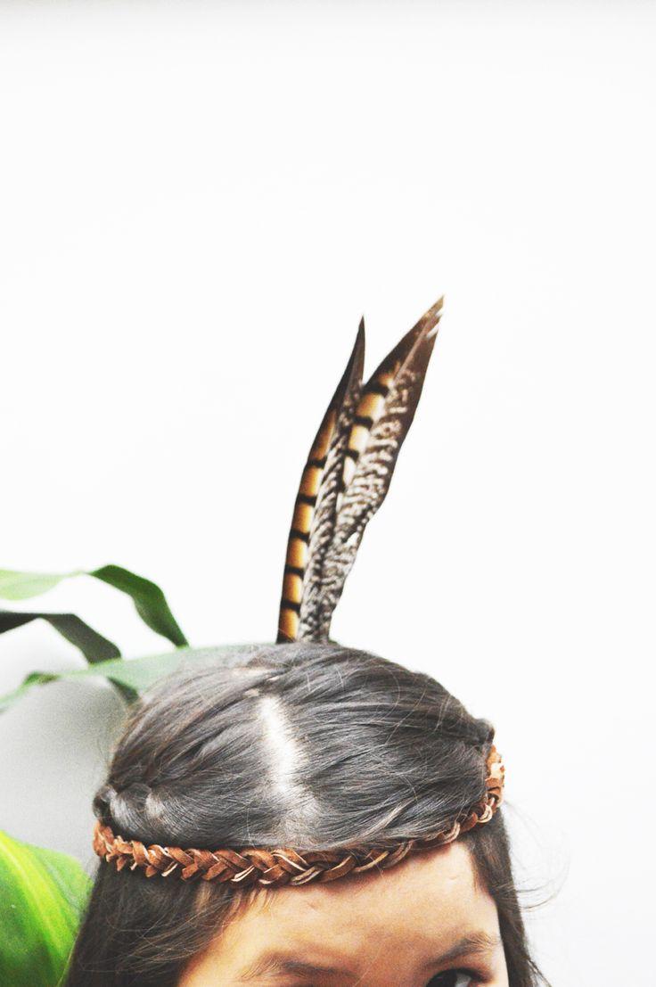 DIY indian headband