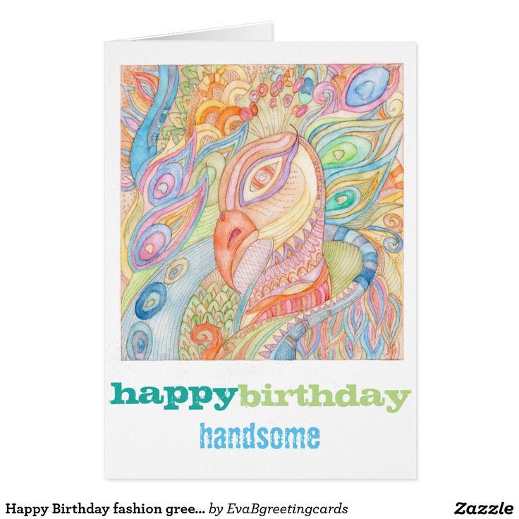 Happy Birthday fashion greeting card