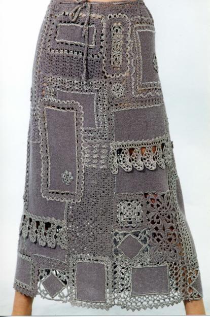 Crochet skirt, love it!
