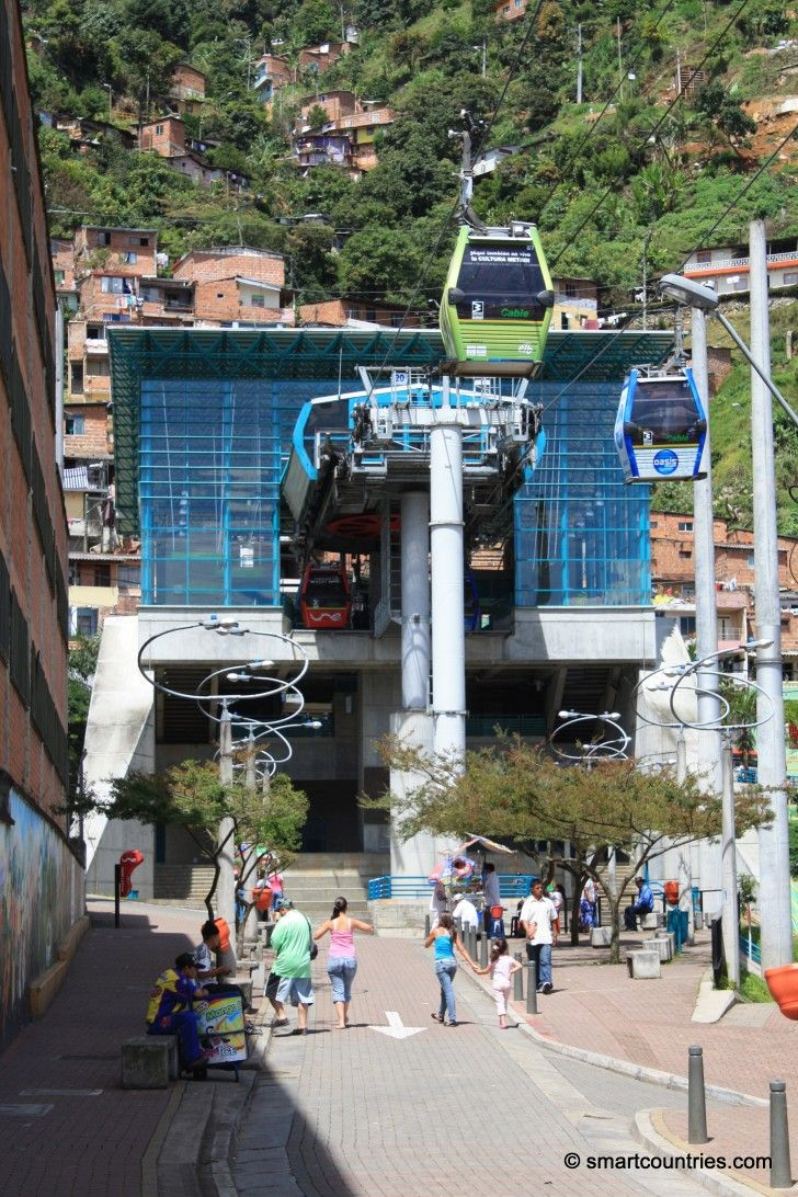 Santo Domingo Metro Cable Station, Medellin, Colombia.
