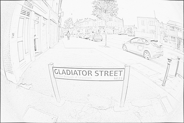 Gladiator Street - Honor Oak Park, because who doesn't want to say 'I live on Gladiator Street'