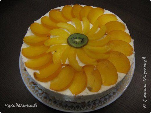 Торт-мусс с персиками