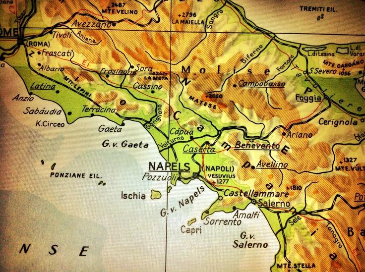 Italië kaart omgeving Napels