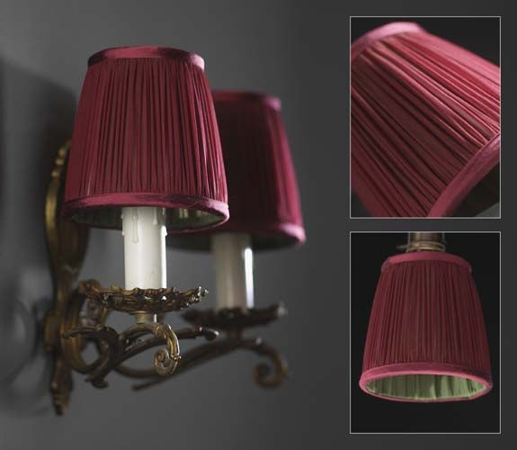 32 best silk lamp shades images on pinterest lamp shades littleton garnet red lamp shades with contrast lining in forest green silk habotai mozeypictures Gallery