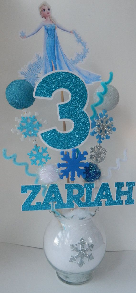 Frozen Centerpiece Elsa by DesignsByKerriB on Etsy