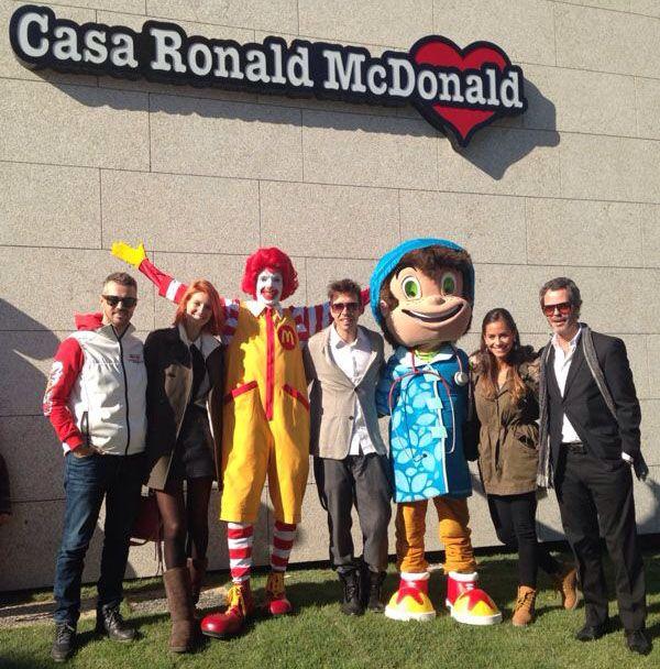 Monteiro na inauguração de casa Ronald McDonald