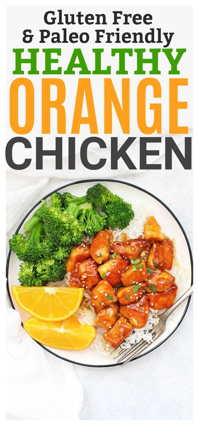 Healthy Orange Chicken (Gluten Free, Paleo Friendly) - Our whole family loves this! #paleo #glutenfree
