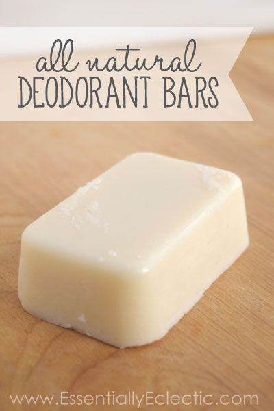 All Natural Deodorant Bars   www.EssentiallyEclectic.com   These deodorant bars contain none of the toxic chemicals found in mainstream deodorant, and they actually work!