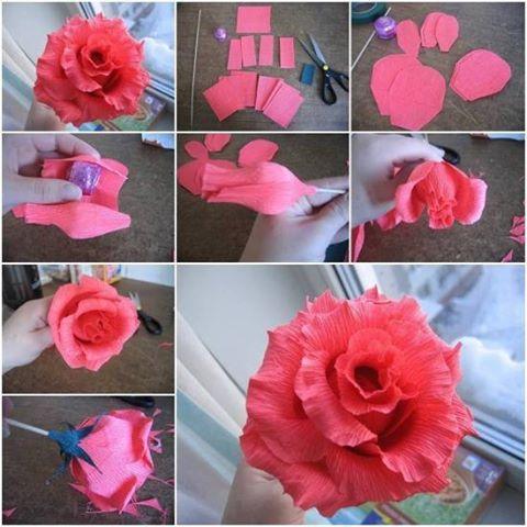 papír rózsa