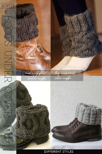 knit boot cuffs - these ones for lower boots