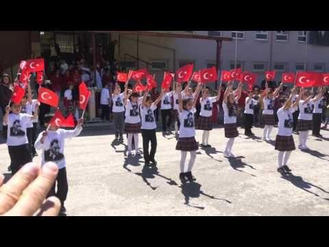 Konya Ereğli Öğretmen Abdurrahim İlkokulu 3/G Sınıfı 23 Nisan Gösterisi - YouTube