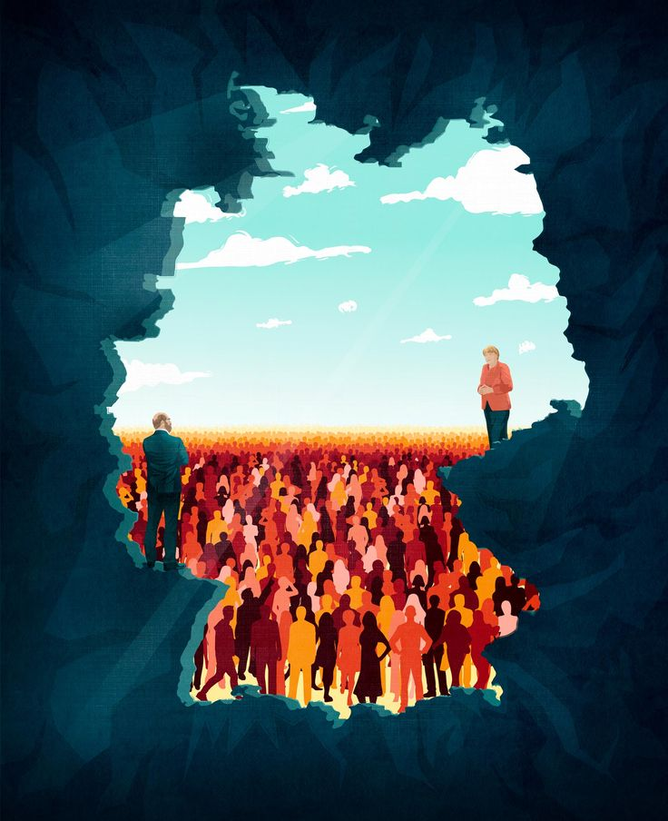 Handelsblatt Magazin / German elections 2017 ©Benedetto Cristofani, all right reserved #germany #elections2017 #merkel #schulz #angelamerkel #politic #politician #elections #illustration #editorial #editorialillustration #conceptual #conceptualillustration #graphic #graphicdesign