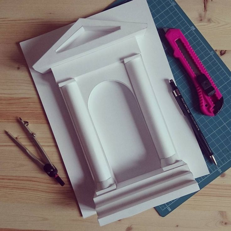 Портик Paper modeling #бумага #макет #портик #архитектура #дизайн #искусство #paper #modeling #3d #architecture #design #art #portico
