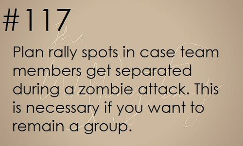 Zombie apocalypse survival tip #117