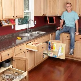 Organization Tips for Your Kitchen. He gives all kinds of diy ideas with step by step instructions for all kinds of kitchen storage ideas. Very cool stuff!