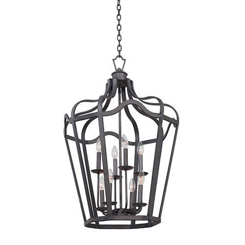 kalco lighting livingston charcoal sixlight medium lantern