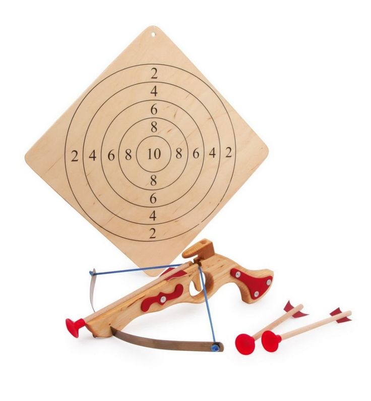 Childrens Wooden Toy Crossbow With 3 Arrows & Target: Amazon.co.uk: Sports & Outdoors
