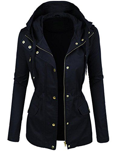 Prime Ladies Parka Jacket Women Cotton Casual Trench Coat PK-01 (NAVY, L) *** Check this awesome product by going to the link at the image.