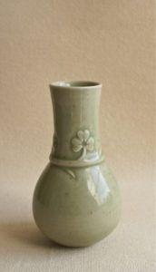 Thrown & Carved Porcelain Bud Vase - Maggie Williams 1985