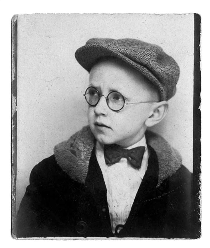 Charles M. Schulz, creator of Charlie Brown/Peanuts, as a boy