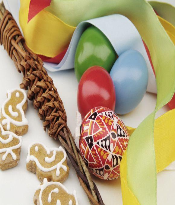Slovak Easter eggs and sibacka