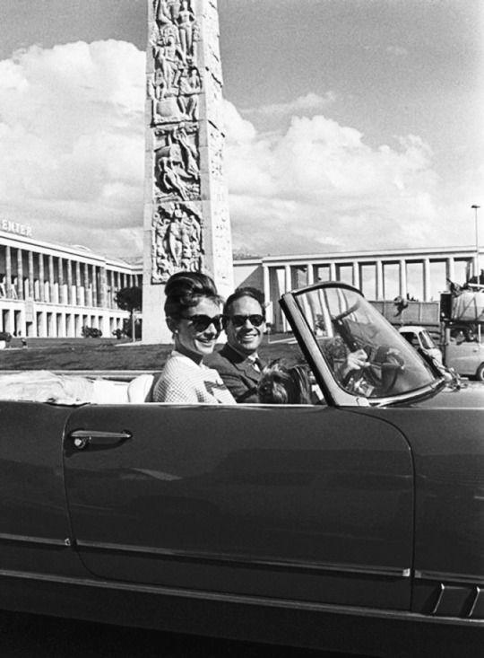 Audrey Hepburn with Mel Ferrer in Rome, 1960 by Pierluigi Praturlon