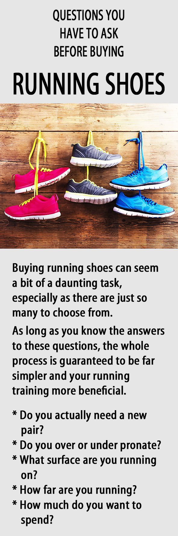 Questions you HAVE TO ask before buying running shoes. #runningshoes #running #runningtips