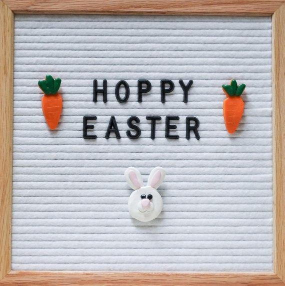 Easter Letter Board Ornaments Easter Bunny And Carrots Etsy Easter Quotes Funny Easter Quotes Felt Letter Board