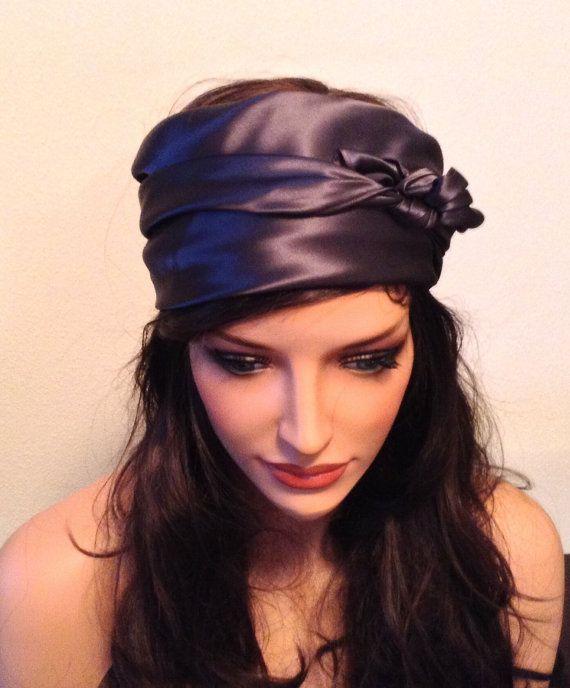 Silk Hair and Sleep Scarf,  Charcoal Gray, Charmeuse Hair Scarf for Hair Care, Generous Size