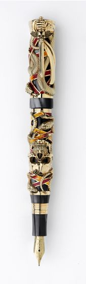 Montegrappa pen designed by S. Stallone Lovely to look at, but the design would make using it any length of time difficult.