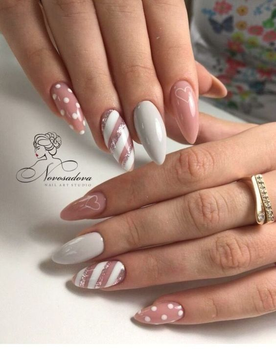 Mar 23, 2020 - Pink Christmas nail art design is very popular in this season, because pink is women's favorite color at all times. Pink belongs to neutral color. It can match with clothes of any color, so people of any color are suitable for pink nails. It's Chri
