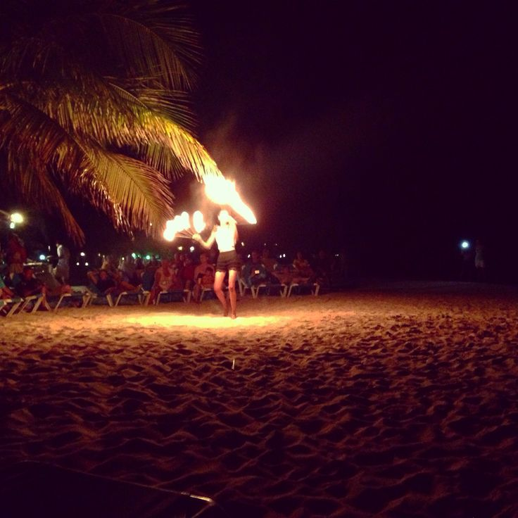 Fire show roatan