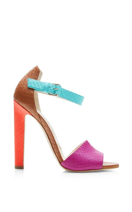 Iosy Snakeskin Sandals by Brian Atwood Now Available on Moda Operandi