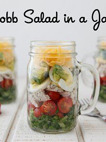 Cobb Salad in a Jar from Weelicious